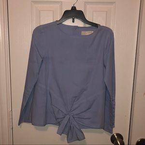 Zara tie front shirt